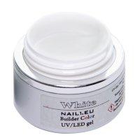 "Aufbau-Gel ""WHITE Profiline"" 55 ml, UV/LED..."